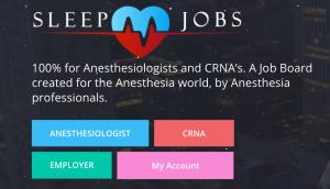 Sleep jobs and CRNA Career Pro